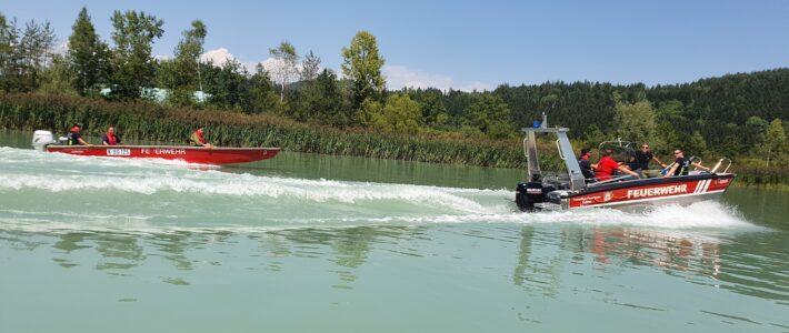 Wasserdienstübung Drau 2021 14.8.2021